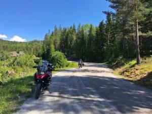 Gravel road in Vestfold & Telemark