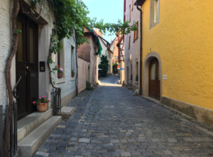 Rothenburg cobblestone street