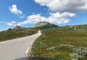 The road to Gaustadtoppen