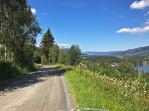 Gravel roads in Valdres
