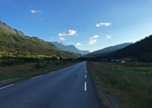 Fv55 in Leirdalen at 8PM 27.07