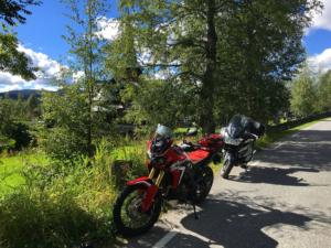 Parked near Hedalen Stave church