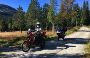 Motorcycle riding in Vidalen
