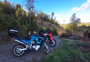 On gravel roads