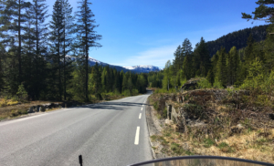 On the road into/up to Hedalen